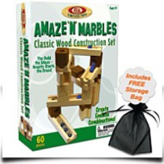 60 Piece Amaze N Marbles Classic Wood