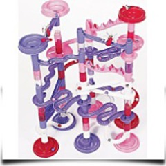 Pink Marble Racer Deluxe Over 100 Pieces