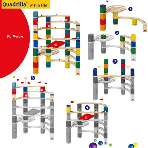 Quadrilla Twist And Rail Set Marble Run Sets